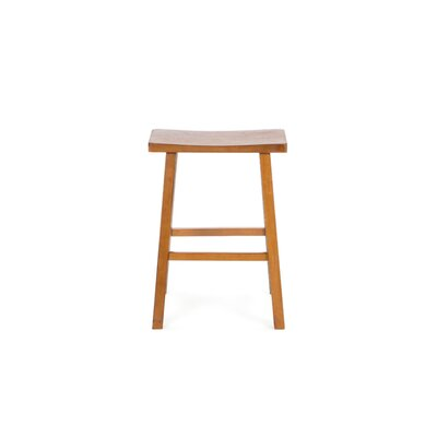 "International Concepts 24"" Saddleseat Counter Stool (Distressed Rustic Oak)"