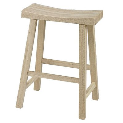 "International Concepts Saddleseat 24"" Bar Stool"