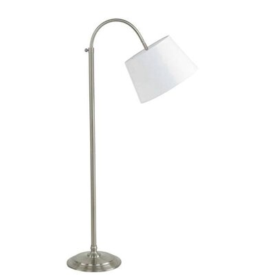 Fangio Lighting Adjustable Floor Lamp with Hardback Linen Shade