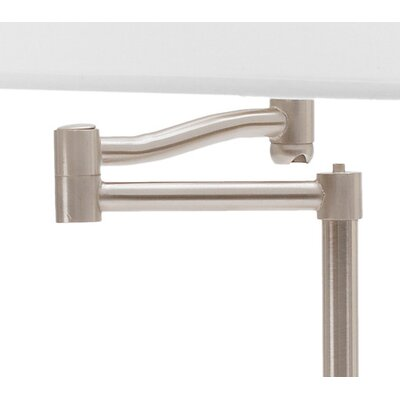 Fangio Lighting Swing Arm Table Lamp in Brushed Steel