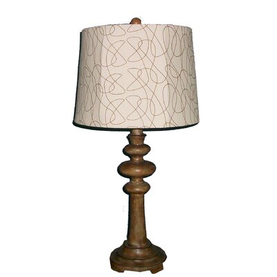 "Fangio Lighting 28"" H Resin Table Lamp with Linen Shade"