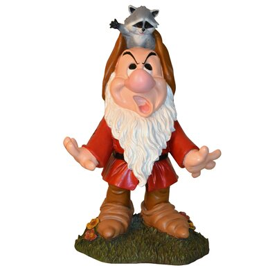 Disney Grumpy with Raccoon Statue