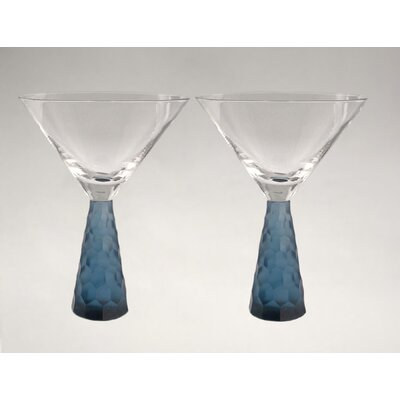 Artland Prescott Martini Glass in Slate Blue (Set of 2)