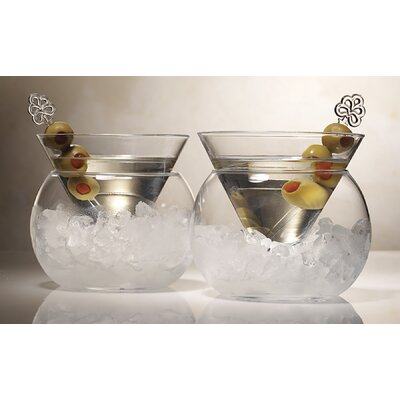 Artland Rockwell Stemless Martini Glass Set