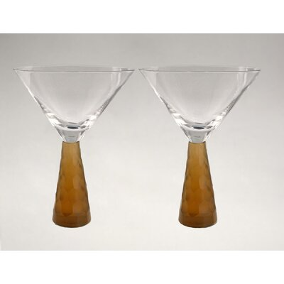 Prescott Martini Glass in Amber (Set of 2)
