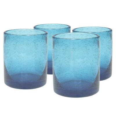 Iris Double Old Fashioned Glass in Turquoise (Set of 4)