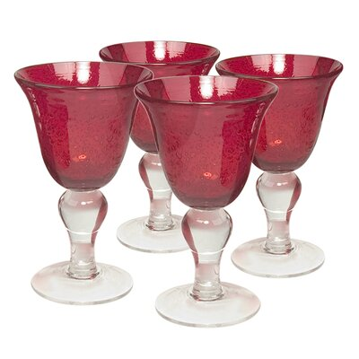 Iris Wine Glass in Ruby (Set of 4)