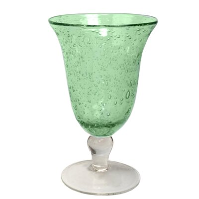 Iris Footed Iced Tea Glass in Light Green (Set of 4)