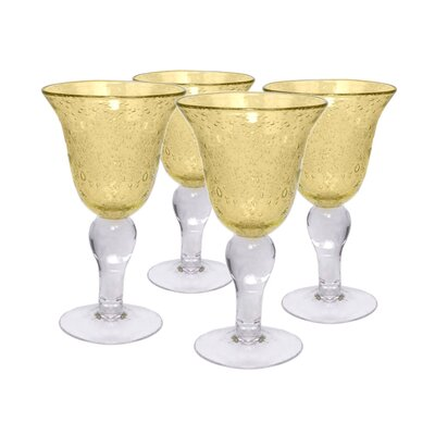 Artland Iris Goblet in Citrine (Set of 4)