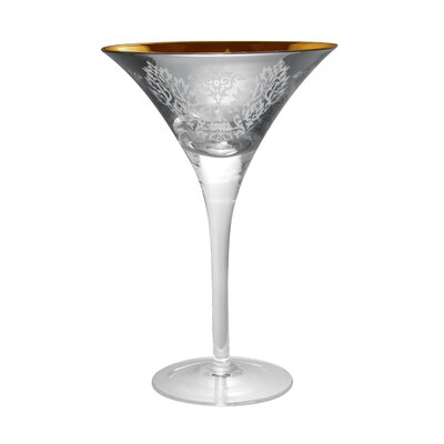Artland Brocade Martini Glass in Silver (Set of 4)