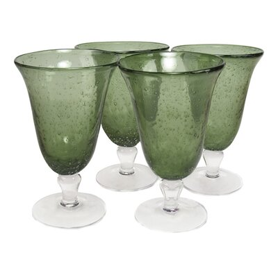 <strong>Artland</strong> Iris Footed Iced Tea Glass in Sage (Set of 4)