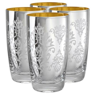 Artland Brocade Highball Glass in Silver (Set of 4)