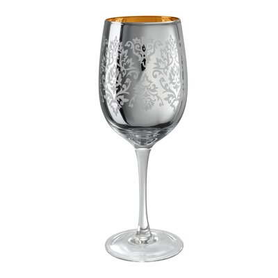 Artland Brocade Wine Glass in Silver (Set of 4)