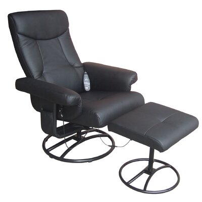 Comfort Products Heated Reclining Massage Chair with Ottoman