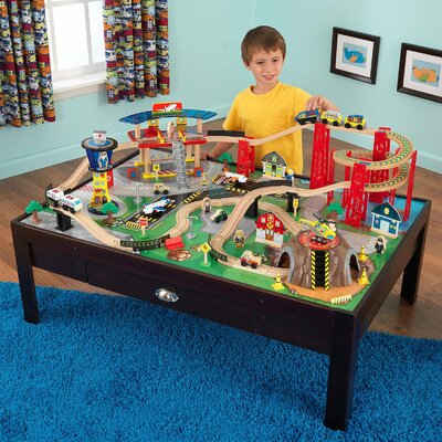 KidKraft 100 Piece Airport Train Table Set