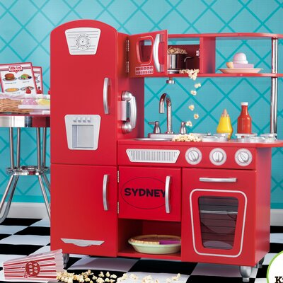 KidKraft Personalized Red Vintage Kitchen