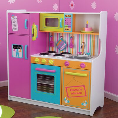 <strong>KidKraft</strong> Personalized Deluxe Big and Bright Toy Kitchen