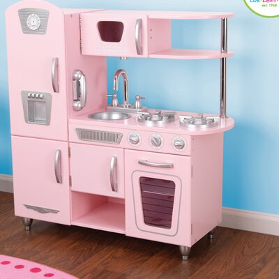 Kidkraft pink vintage kitchen on popscreen for Kidkraft cuisine retro