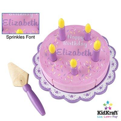 KidKraft Personalized Birthday Cake Set