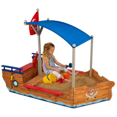 KidKraft Pirate 6' Rectangular Sandbox