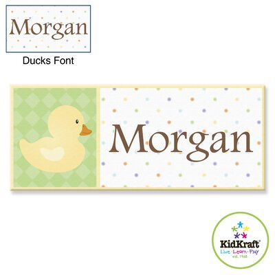 KidKraft Personalized Duck Canvas