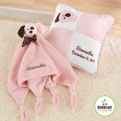 KidKraft Puppy Pillow and Cuddle Blanket Set