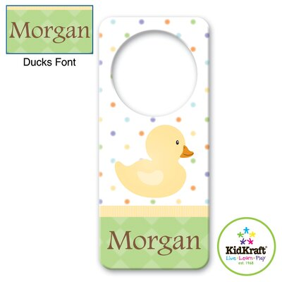 Personalized Duck Door Hanger