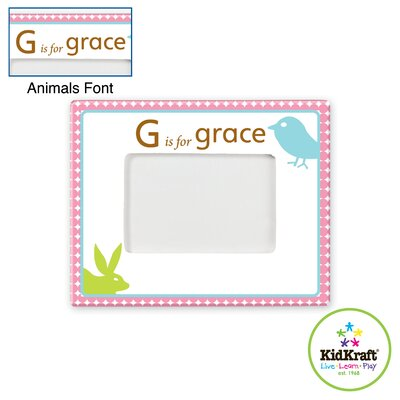 KidKraft Personalized Girl Animal Frame
