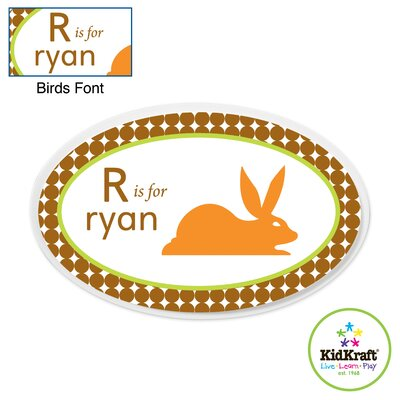 KidKraft Personalized Boy Animal Oval Wall Plaque