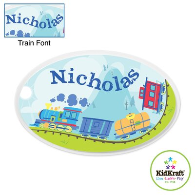 KidKraft Personalized Train Oval Wall Plaque