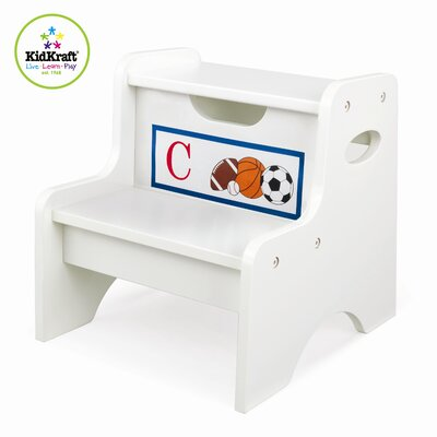 KidKraft Personalized Two Step Stool in White