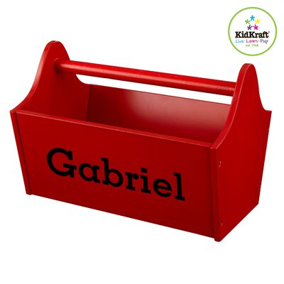 Personalized Toy Box Caddy in Red