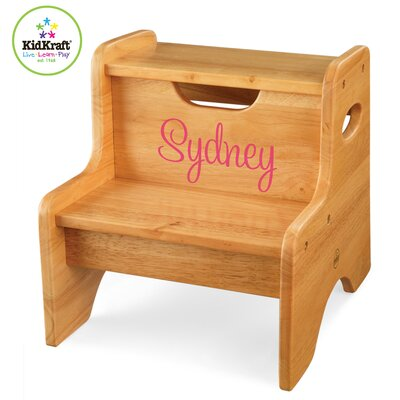KidKraft Personalized Two Step Stool in Natural