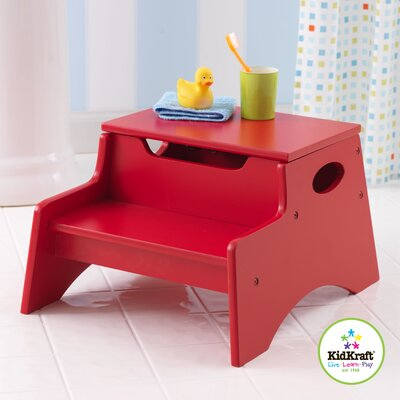 KidKraft Step N' Store Stool in Red