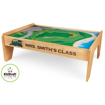 KidKraft Personalized Train Table in Natural
