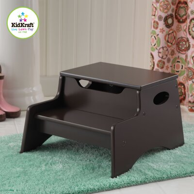 KidKraft Step N' Store Stool in Chocolate Brown