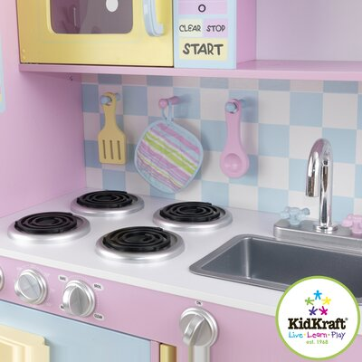 KidKraft Personalized Pastel Play Kitchen Set