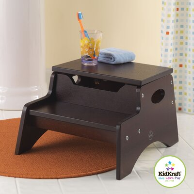 KidKraft Step 'N Store Stool in Espresso
