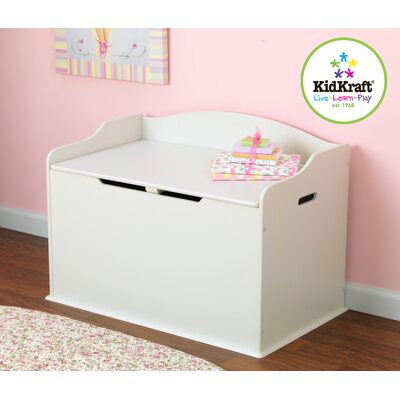 KidKraft Personalized Austin Toy Box in White