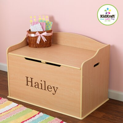 KidKraft Personalized Austin Toy Box in Natural