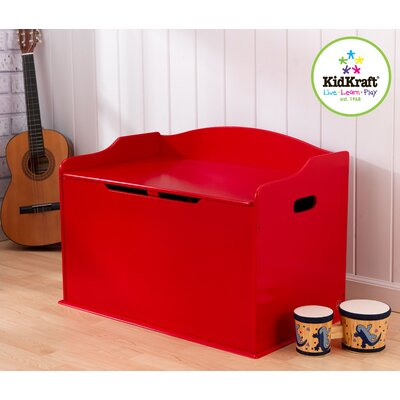 KidKraft Austin Toy Box in Red