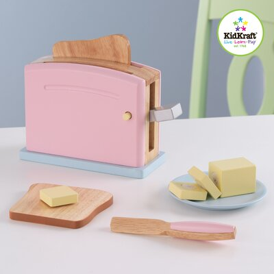 KidKraft 9 Piece Pastel Kitchen Toaster Set