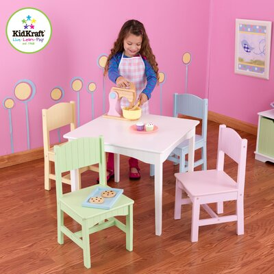 KidKraft Nantucket Kids' 5 Piece Table and Chair Set
