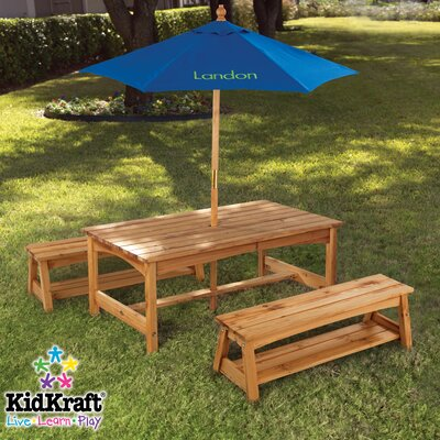 KidKraft Personalized Kids' 3 Piece Table and Bench Set