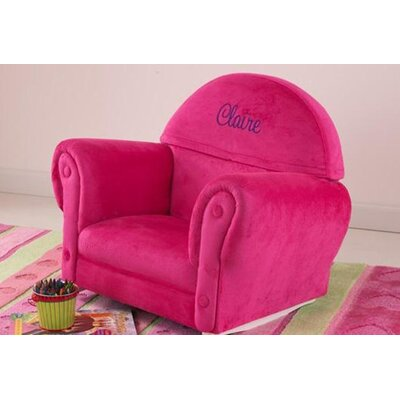 KidKraft Personalized Bubblegum Velour Rocker with Slip Cover