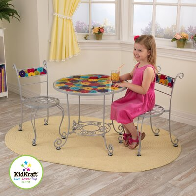 KidKraft Kids 3 Piece Bistro Table and Chair Set
