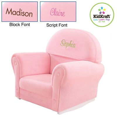 KidKraft Personalized Velour Rocker with Slip Cover