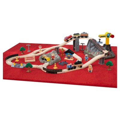 KidKraft Construction Bucket Top Train Set