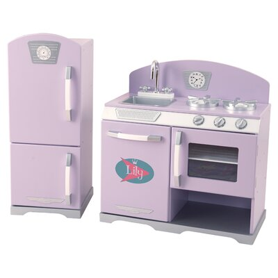 KidKraft 2 Piece Retro Kitchen & Refrigerator Set