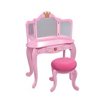 "KidKraft Princess 12.75"" Vanity Table and Stool"
